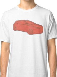 Focus ST Mk3 Drawing - Race Red Classic T-Shirt