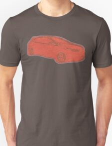 Focus ST Mk3 Drawing - Race Red Unisex T-Shirt