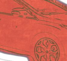 Focus ST Mk3 Drawing - Race Red Sticker