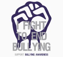 I Fight To End Bullying Indigo by Sarah  Eldred