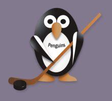 Penguin with hockey stick Kids Tee