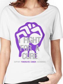 I Fight For A Cure - Pancreatic Cancer Women's Relaxed Fit T-Shirt