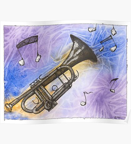 Trumpet Notes Poster