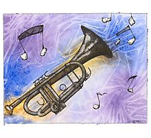 Trumpet Notes Photographic Print