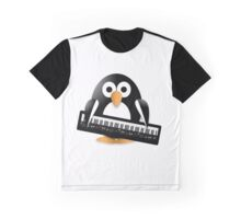 Penguin with piano keyboard Graphic T-Shirt