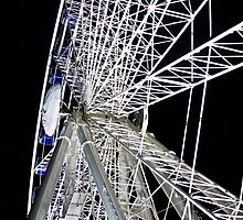 Duesseldorf - Ferris Wheel at night by Heike Richter