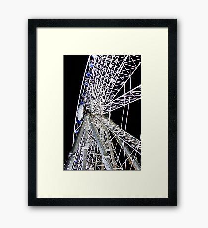 Duesseldorf - Ferris Wheel at night Framed Print