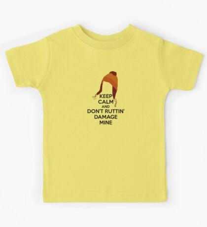 Jane Cobb Firefly Keep Calm Design Brown Kids Tee