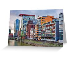 Duesseldorf Media Harbour, Flossis Greeting Card
