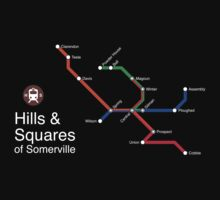 Hills & Squares of Somerville (white) by Rajiv Ramaiah