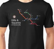 Hills & Squares of Somerville (white) Unisex T-Shirt