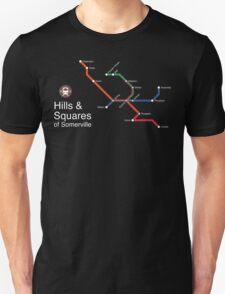 Hills & Squares of Somerville (white) T-Shirt