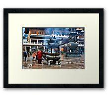 Jing´an Temple, Shanghai Framed Print