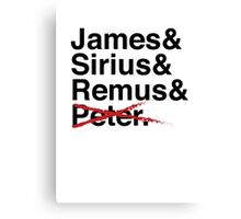 James & Sirius & Remus & X. Canvas Print