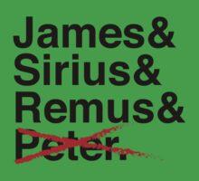 James & Sirius & Remus & X. One Piece - Short Sleeve