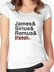James & Sirius & Remus & X. Women's Fitted Scoop T-Shirt