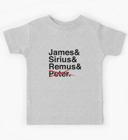 James & Sirius & Remus & X. Kids Tee