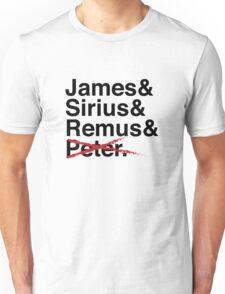 James & Sirius & Remus & X. Unisex T-Shirt
