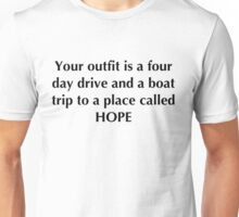 Funny t-shirt 15 (black text) Unisex T-Shirt