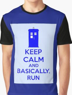 Keep Calm And Basically, Run Graphic T-Shirt