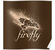 Firefly Silhouette Poster