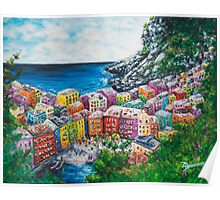 Cosy Cove from Cinque Terre, Italia Poster