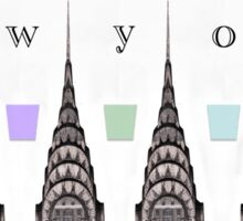 Chrysler Building with Color Elements Sticker