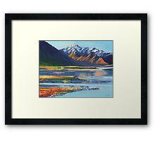 Mt Erebus and Lake Tekapo Framed Print
