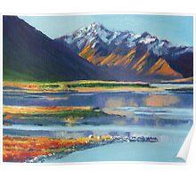 Mt Erebus and Lake Tekapo Poster