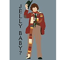 Doctor Who Tom Baker Jelly Baby minimalist Photographic Print