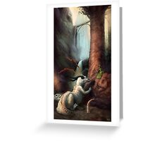 Frigga and the Water Dragon Greeting Card