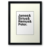 James & Sirius & Remus & Peter. Framed Print