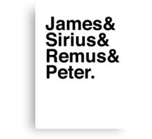 James & Sirius & Remus & Peter. Canvas Print