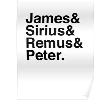 James & Sirius & Remus & Peter. Poster