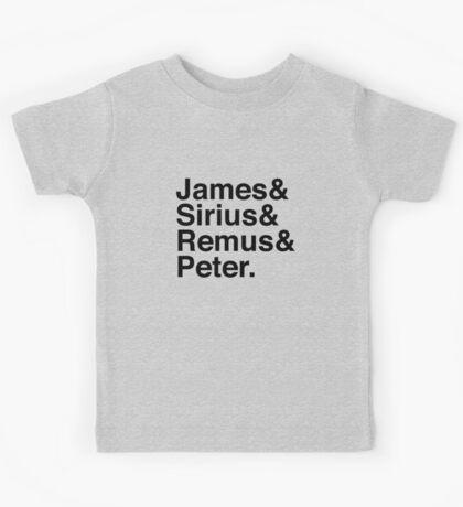 James & Sirius & Remus & Peter. Kids Tee