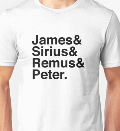 James & Sirius & Remus & Peter. Unisex T-Shirt