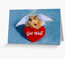 Get Well Hamster Greeting Card