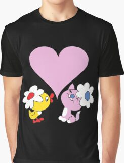Kitty and duckling in love Graphic T-Shirt