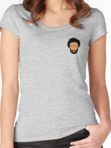 Childish Gambino / Donald Glover Vector Illustration Drawing small Women's Fitted Scoop T-Shirt