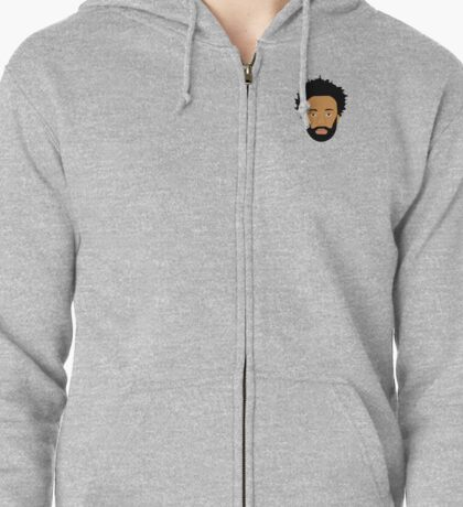 Childish Gambino / Donald Glover Vector Illustration Drawing small Zipped Hoodie