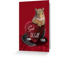 Get Well Squirrel Greeting Card