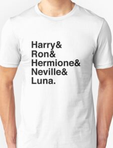 Harry & Ron & Hermione & Neville & Luna. T-Shirt