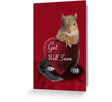 Get Well Soon Squirrel Greeting Card