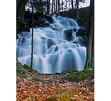 Cascading WaterFall in the Woods Photographic Print