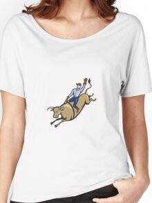 Rodeo Cowboy Bull Riding Retro Women's Relaxed Fit T-Shirt