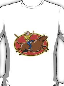Rodeo Cowboy Bull Riding Retro T-Shirt