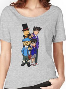 Case Closed x Professor Layton comic colours Women's Relaxed Fit T-Shirt