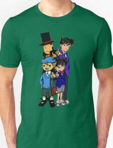 Case Closed x Professor Layton comic colours Unisex T-Shirt