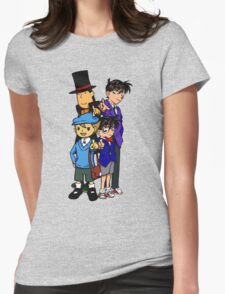 Case Closed x Professor Layton comic colours Womens Fitted T-Shirt
