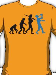 Human Evolution Drunken Zombie  T-Shirt
